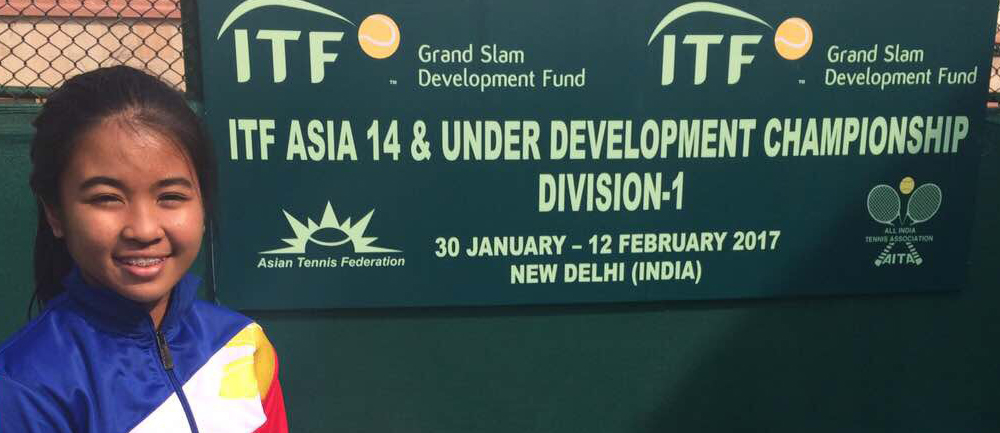 Gaby at the ITF Asia Championships